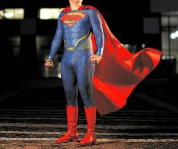 Cosplay Superman Texturizado com botas