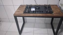 Fogão  cooktop.