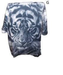 Kit 5 Camiseta Estampadas 100% Poliéster Importada
