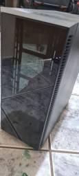 Gabinete Gamer redragon grapple mil Tower, s-fan, vídeo temperado, black GC-607-BK