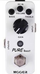 Pedal de Volume Pure Boost Mooer na caixa