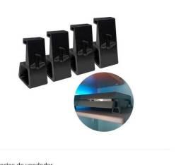 PS4 - Pro/Fat/Slim - Suportes Pézinho (auxilia na ventilação do console)