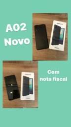 Samsung A02 preto, 1 mês de uso