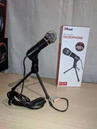 Microfone Streamer Starzz Com Tripé Trust