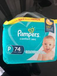 Fraldas pampers confort sec P