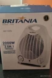 Aquecedor e ventilador Britânia R$ 100,00