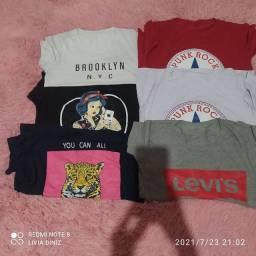 6 t-shirts blusas