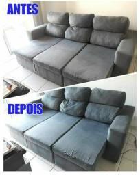 !! Seu sofá Retrátil * limpo e cheiroso