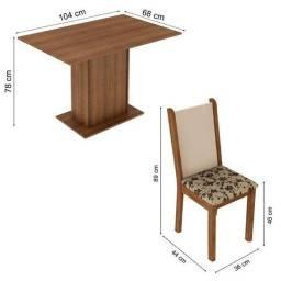 (RIO VERDE)Conjunto Sala de Jantar Madesa com 4 Cadeiras