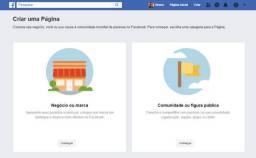 Crio e administro Página do Facebook