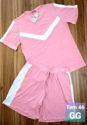 Conjunto Blusa e Shorts Tamanho Grande/Plus Size - Vários Modelos - Super Promoção