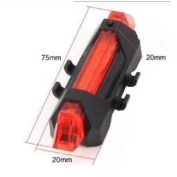 Sinalizador traseira recarregável USB para bike
