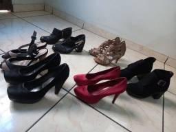 6 Sapatos femininos todos por 100