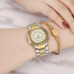 Relógio Feminino Super Luxuoso Missfox de Altíssimo Nível