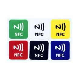 Nfc Tag Pacote com 6 Peças Rfid Chip Ntag 213