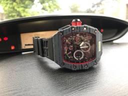 Relógio masculino Richard Mille MC Laren funcional oferta