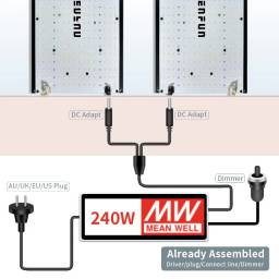 Painel Led Cultivo indoor Samsung Quantum Board 240W LM301B 3000k 5000k+660nm+UV+IR