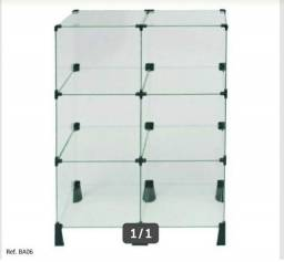 Balcão de vidro temperado