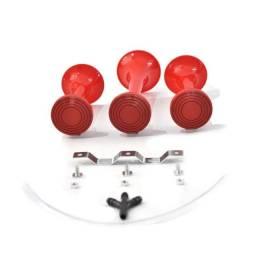 Buzina 3 Cornetas Vermelha Verdureiro