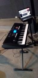 Teclado Yamaha arranjador mais notebook com kontakt