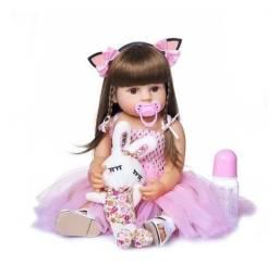 boneca bebe reborn 55cm