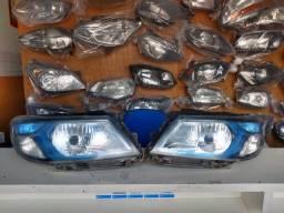 Farol GM Onix Prisma 2013 à 2017 Máscara Azul Original