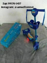 Patinete infantil azul novo na caixa