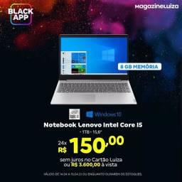 Notebook  Lenovo Intel core I5 de 10 geração, 1T  de armazenamento, tela de 15,6?