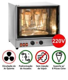 Forno Elétrico Giratório para 8 Cones Pizza  Titã 1 mes de uso