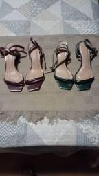 Sandálias metalizadas Milano 37