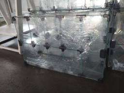 Baleiro Vitrine Comercial Modulado em Vidro  R$260,00
