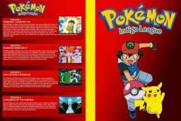 Coleção de DVDs do Desenho Pokémon 5 Temporadas + 4 Filmes