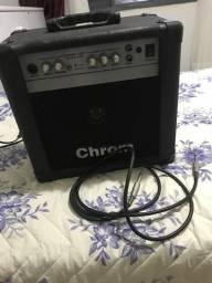 Amplificador de guitarra Chrom + pedal de efeito meteoro