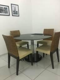 Mesa vidro 4 cadeiras