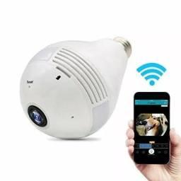 Câmera Ip Segurança Lampada Vr 360 Panorâmica Espia WiFi V380
