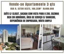 Vende-se apartamento 3 qts - Rua 9, Setor Oeste