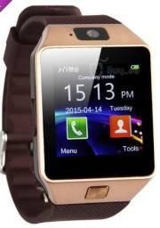 Relógio Saudável Smart Wrist Bluetooth para Smartphone - Ouro + Brown