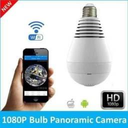 Lampada Camera Ip Panoramica Hd Segurança Lâmpada Espiã 360 Wifi Dividimos, Entregam
