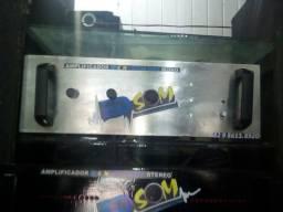 Amplificador 1500 watts RMS mono com equalizador