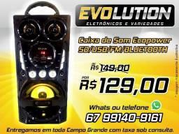 Caixa Ecopower Ep-2126 Usb bluetooth FM