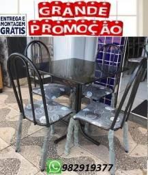 (Entrego e Monto)Conjunto de Mesa 4 cadeiras Nova Ideal para Apartamento 350,00