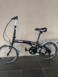 Barbada bike dobrável com marcha e aros aero