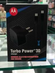 Carregador Turbo Power Cabo Mini Usb - Turbo V8