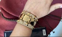 Conjunto pulseiras couro nude