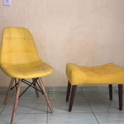 Cadeira e puff