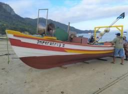 Barco / lancha baleeira, com licença, documento, guincho e rede