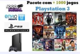 Pacote com + 1000 jogos Playstation 3