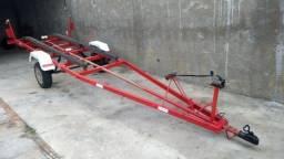 Carreta de barco (carretinha) Reboque para barco com 6mt vendo ou troco