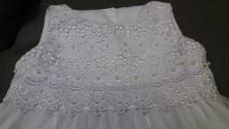 Vestido branco (Batizado) tamanho 2