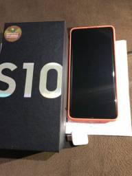 Samsung galaxy S10 128 gb 8gb RAM branco novo com nota fiscal.